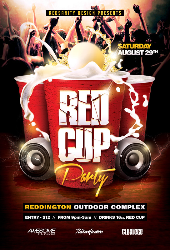Red Cup Party Flyer Psd Template  Download The Photoshop Fi  Flickr