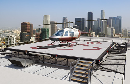 The Helicopter Pad of The South Park Center, Los Angeles