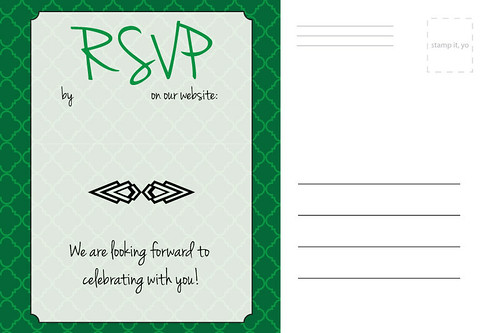 Wedding Invitation Back (Template)