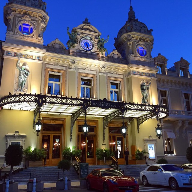 The casino at Monte Carlo. Note the cars.
