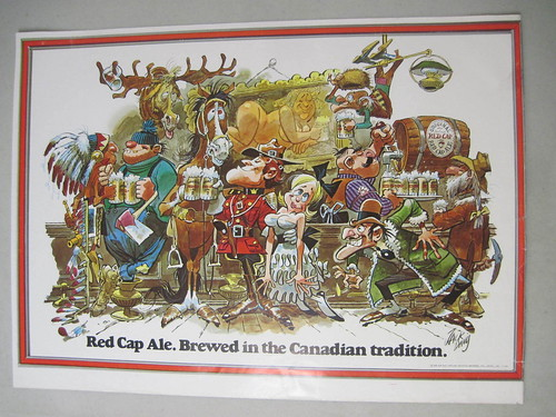 Red-Cap-Ale-Canadian-Tradition-Beer-Poster-By-JACK-DAVIS | by jbrookston