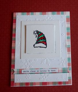 Santa Claus Is Coming To Town Ssc Stamp Darice Embossed