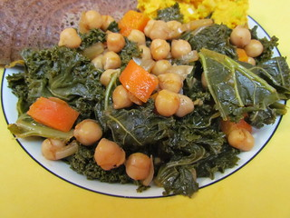 Chickpea and Kale Wat