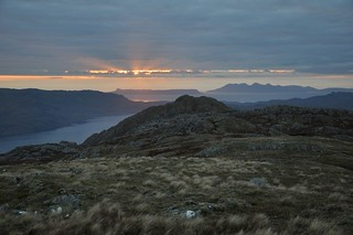 Sunset over Eigg and Rum from camp | by Paul Sammonds