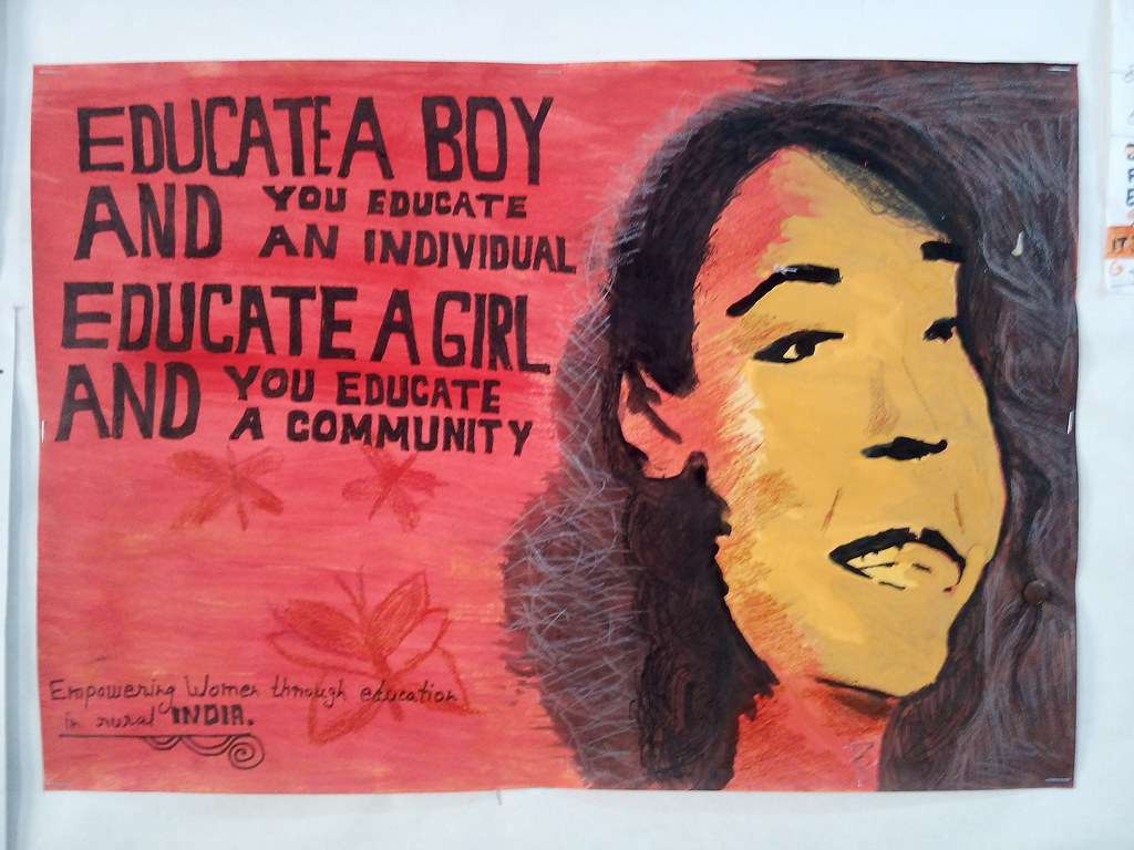 Social issue poster | girl education handmade poster ...