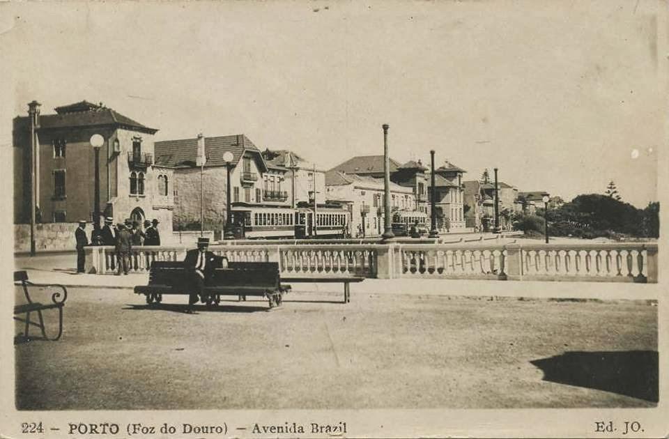 FOZ DO DOURO - AVENIDA BRASIL - ANOS 30