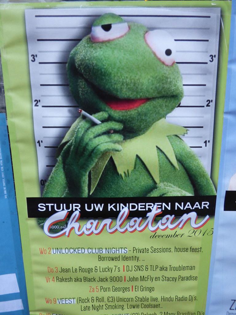 Stoned Kermit The Frog Muppett Christmas Market Bruges Dec… | Flickr