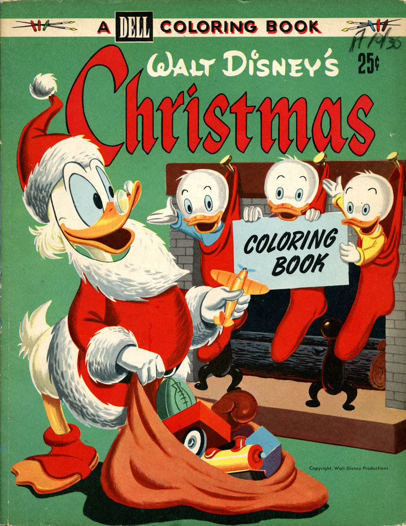 vintage disneydell christmas coloring book by budcat14ross