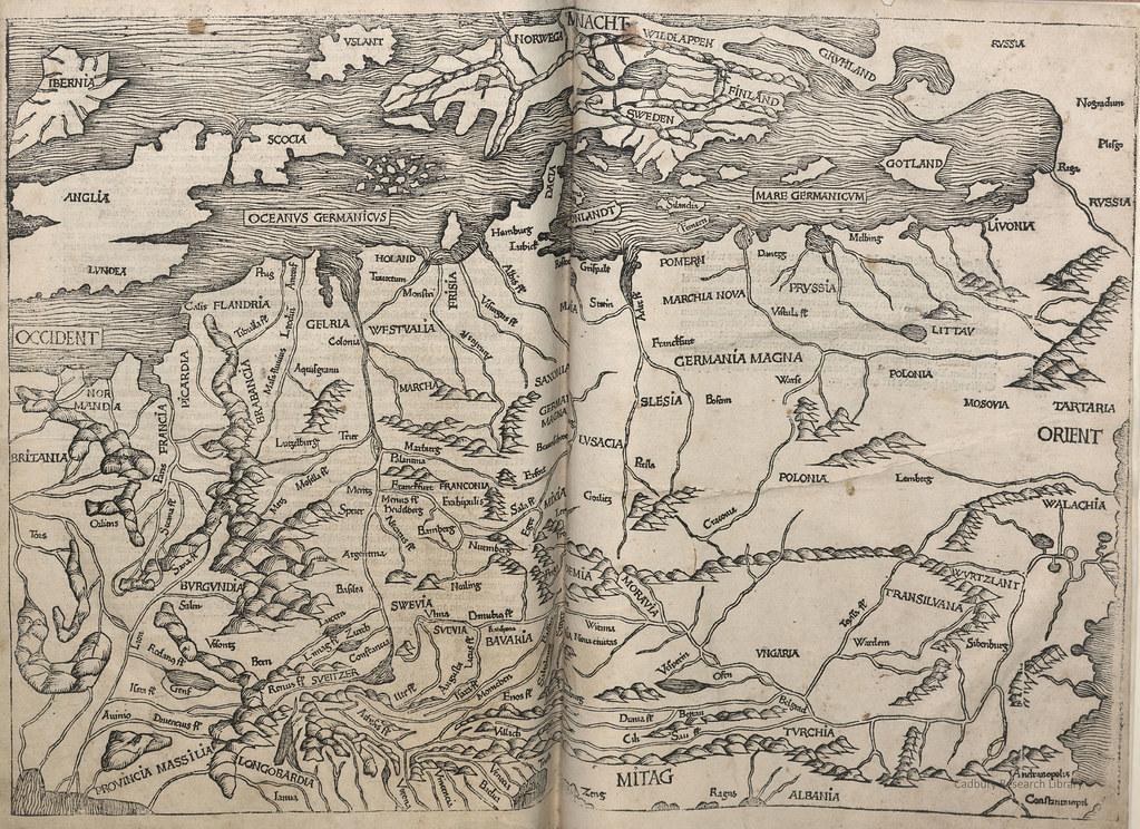 Map Of Europe The Nuremberg Chronicle 1493 Cadbury Rese Flickr