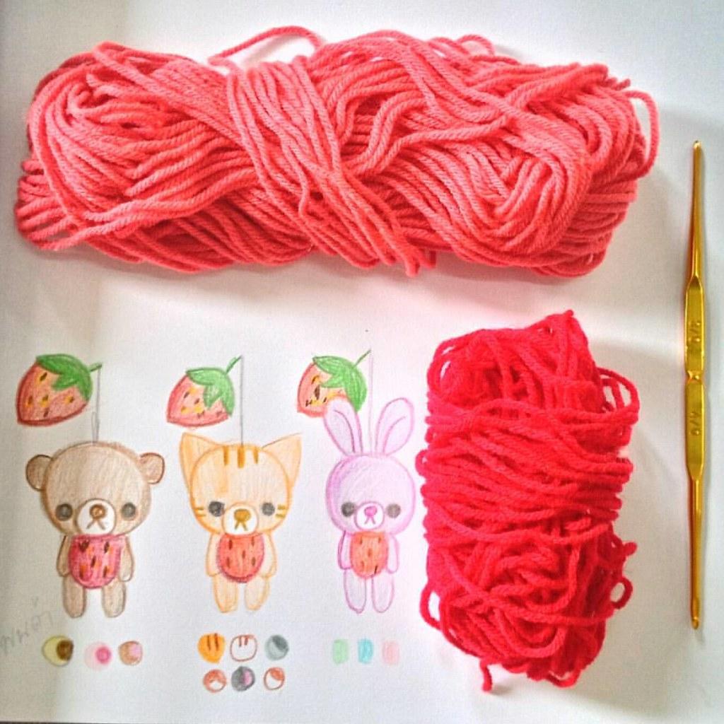 Crochet #handmade #Crochetstrawberry Crochet Strawberry (English ... | 1024x1024