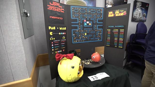 A pumpkin Ms. Pacman