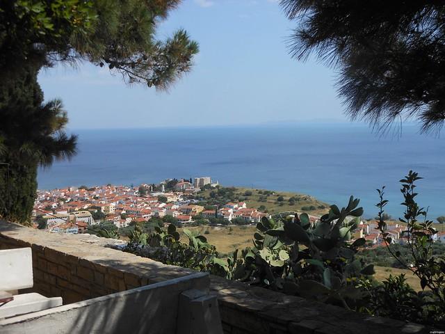 Pythagorion dall'alto. Samos.