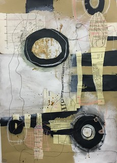 Circumstances, Mixed Media Collge on paper, 42,5 x 59 cm, 2015 | by Ellen Ribbe