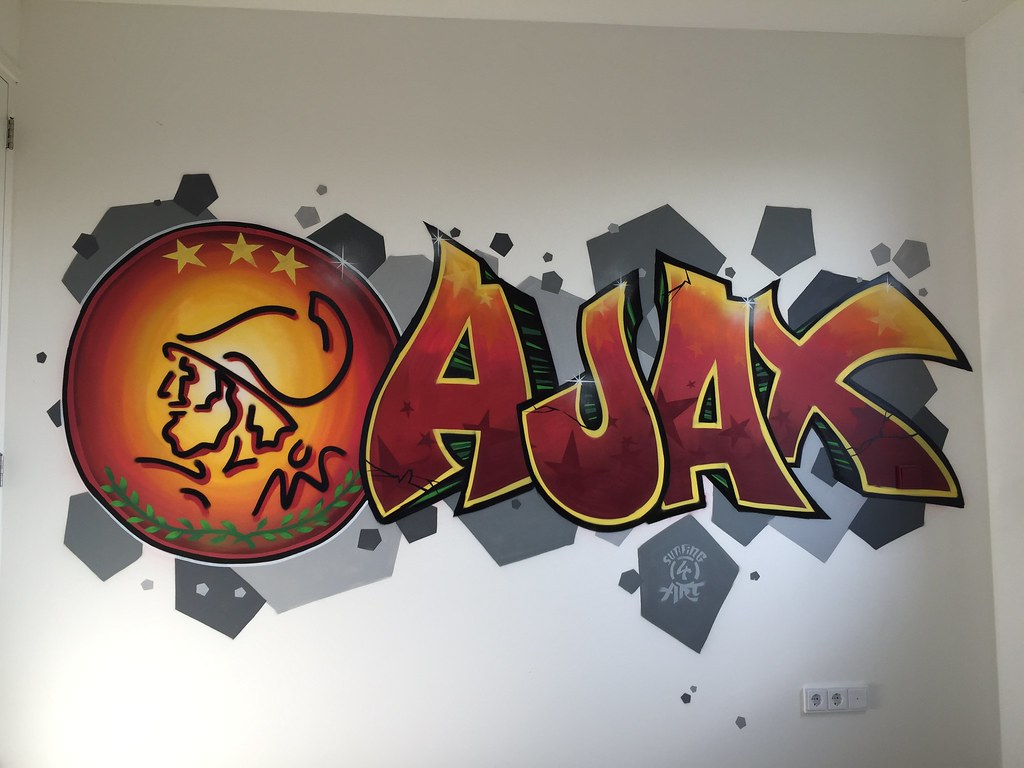 Graffiti kinderkamer AJax | Graffiti kinderkamer AJax | Flickr