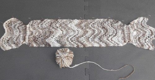 "Blocking ""Feather and Fan"" Scarf 