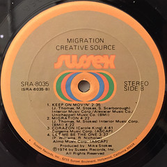 CREATIVE SOURCE:MIGRATION(LABEL SIDE-B)