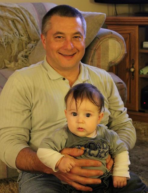 Grandpa & his baby clone!