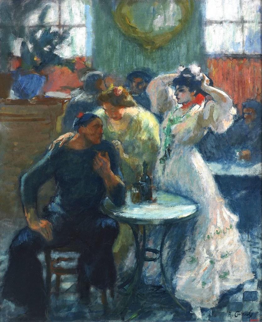 Peinture d'un marin dans un bar du Raval de Barcelone.