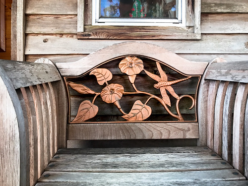 Dragonfly and flowers chair | by Ed Rosack