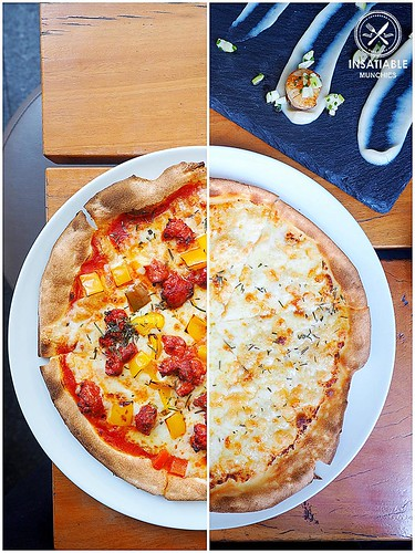 Nomad's hot chorizo, red pepper and rosemary ($19.50), and the Garlic Pizza ($8.50). Vessel Italian and Bar, Sydney: Sydney Food Blog Review | by insatiablemunch