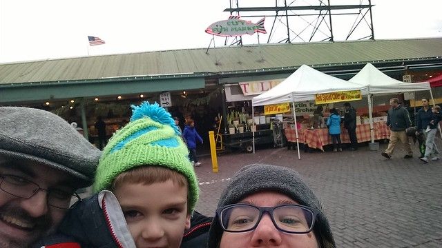 Pike Place Market Family Selfie 2016