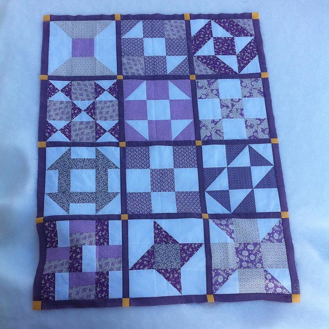 Ma Jewel's quilt (minus borders). #quilting #samplerquilt #beginnersquiltalong
