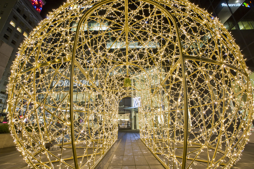 christmas lighting nordstrom pacific centre by gotovan - Nordstrom Christmas Hours