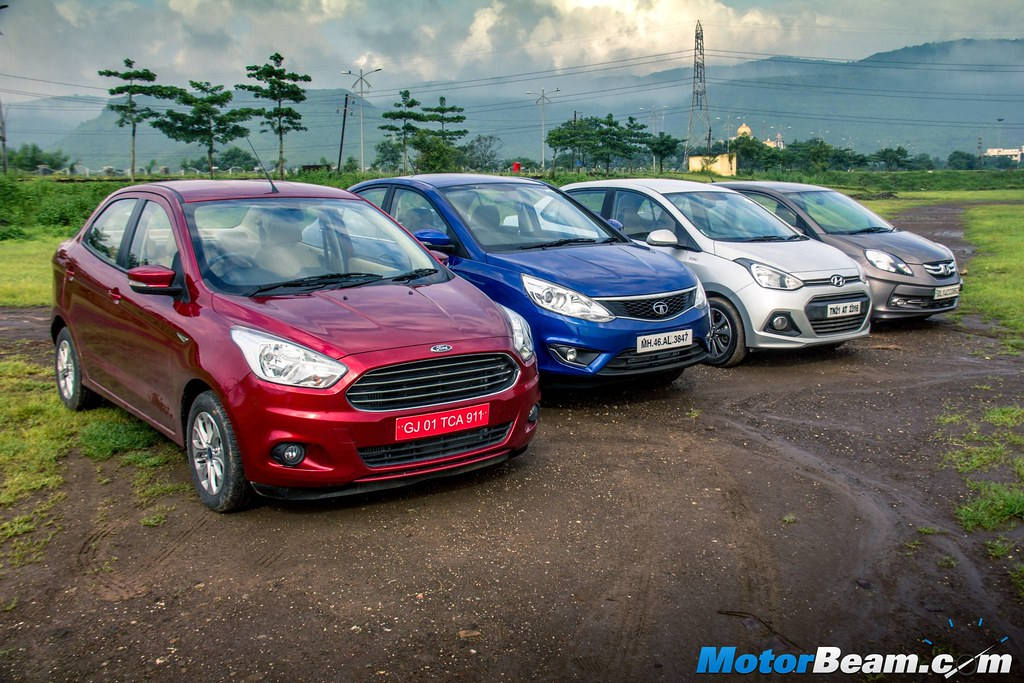 Ford Aspire Vs Hyundai Xcent Vs Honda Amaze