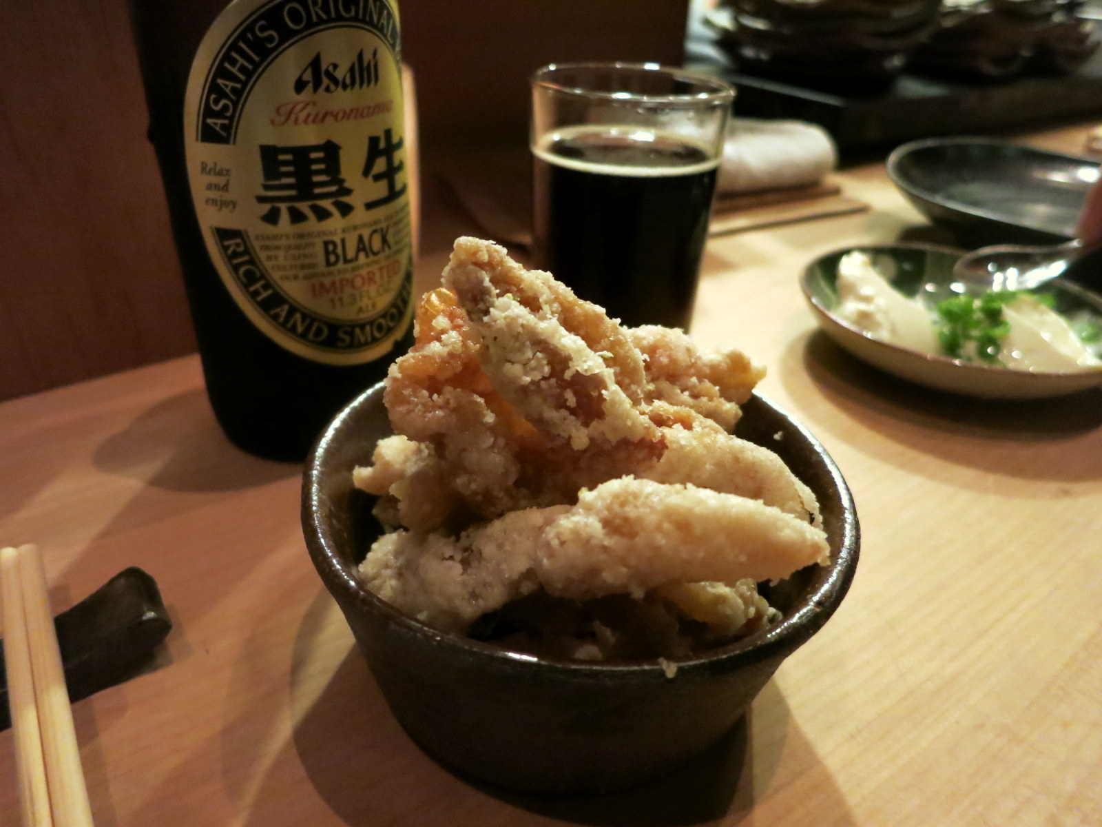 Deep-fried chicken skin