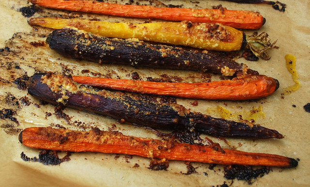 Roasted Parmesan Carrots 1