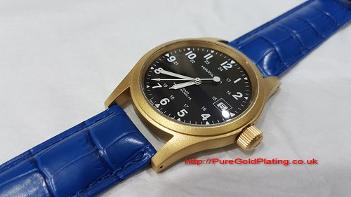 Gold Plated Hamilton Watch | by PureGoldPlating