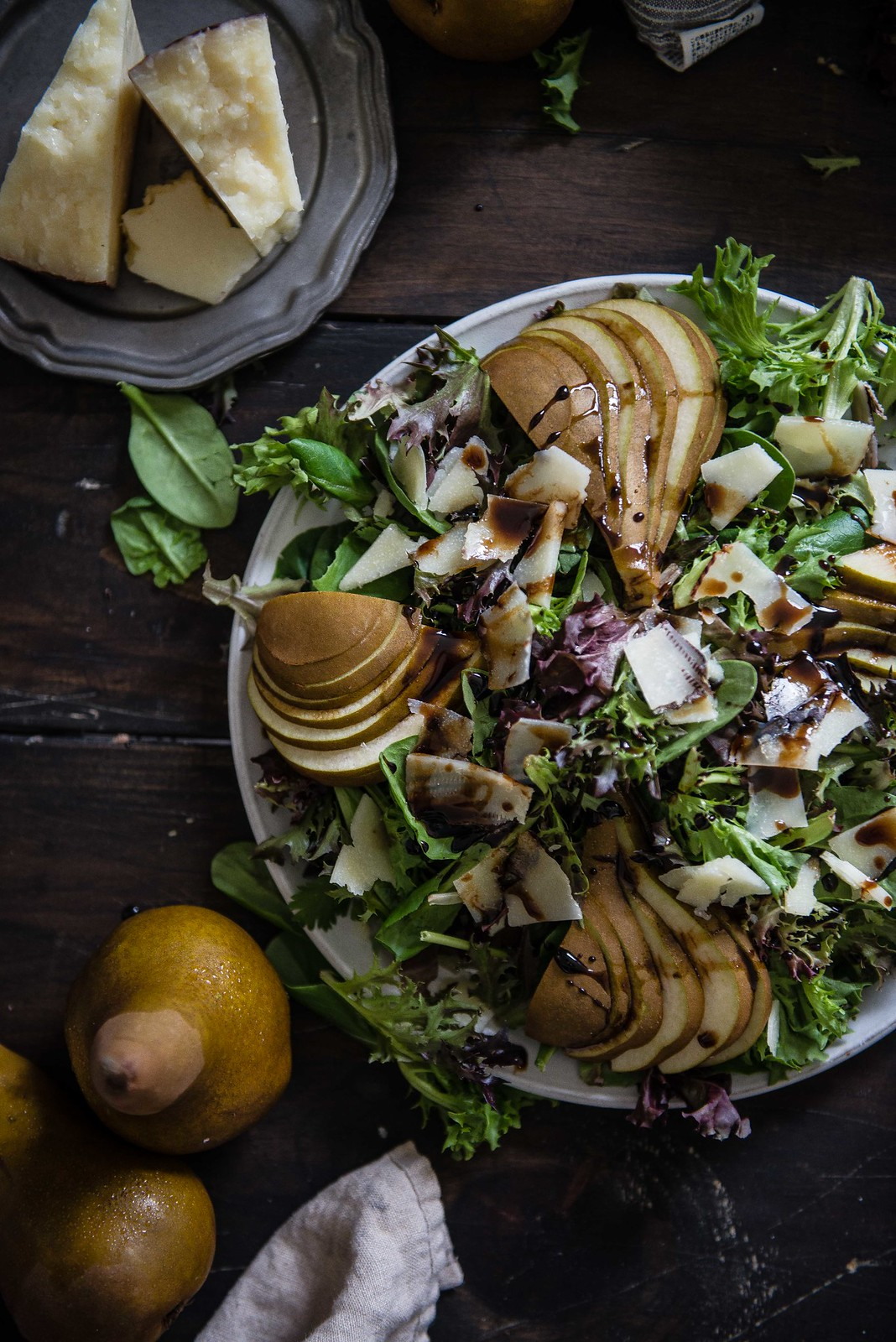 pear, parmesan, & balsamic salad
