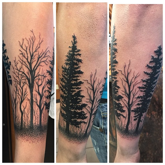 30 Simple And Easy Pine Tree Tattoo Designs For Natural L Flickr