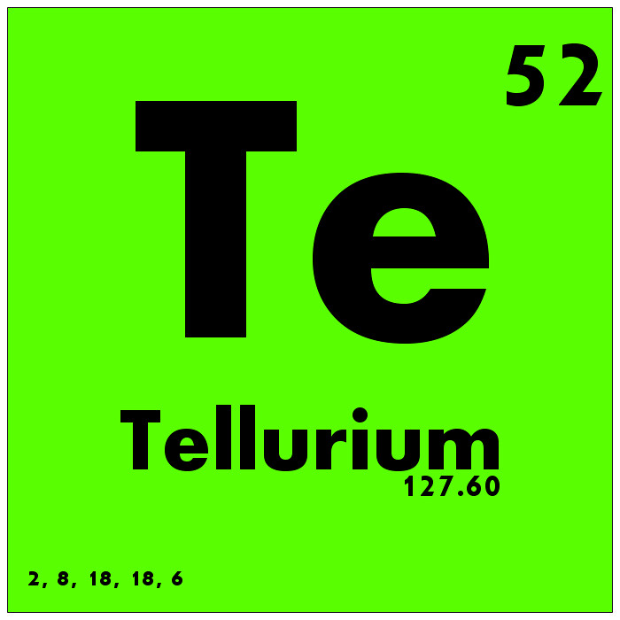 052 tellurium periodic table of elements watch study gui flickr 052 tellurium periodic table of elements by science activism urtaz Image collections