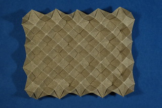 Blintzed bird base corrugation — front (top-down) | by Michał Kosmulski