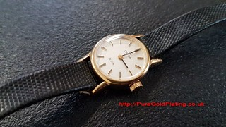 Omega Watch in 18ct Gold Plate | by PureGoldPlating