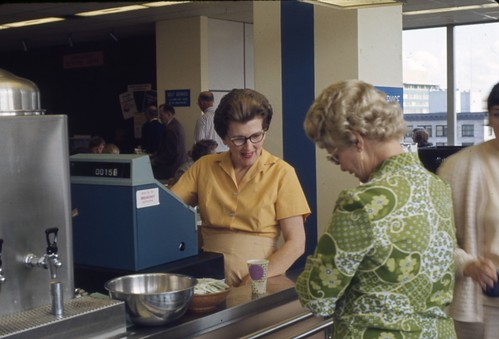Cashier in City Light cafeteria, 1970 | by Seattle Municipal Archives