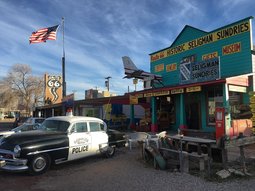 seligman, az on route 66 was the inspiration behind radiat… | flickr