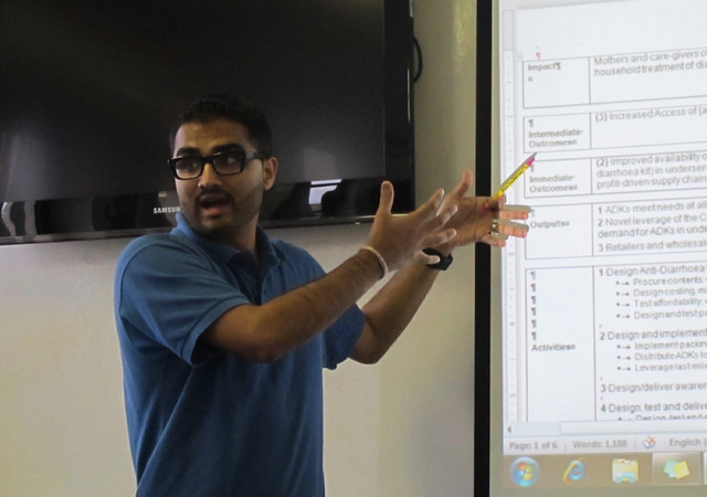 Rohit with COTZ Logic Model