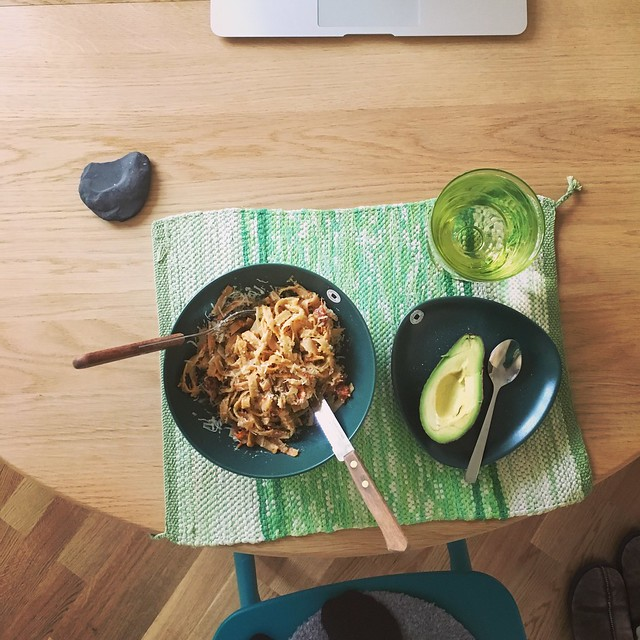 pasta veggie carbonara, sunday, helsingborg
