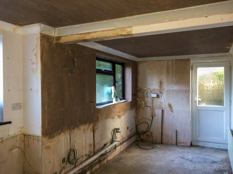 The plasterer has finished