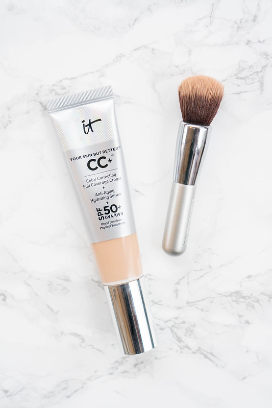 IT Cosmetics CC cream with travel brush