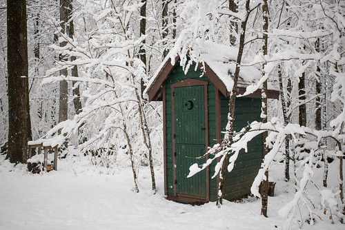 Snowy Outhouse | by goingslowly