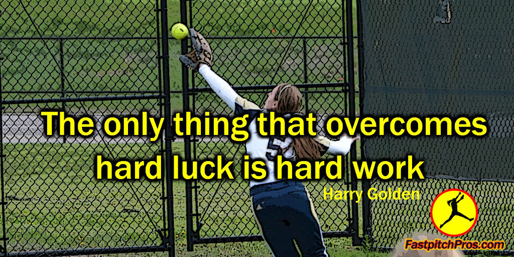 Softball Quote Outfielder Hard Work