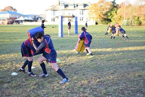 Rugby practice at Ballard