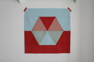Dual Hexagon Pillow Cover | by thecharmingneedle