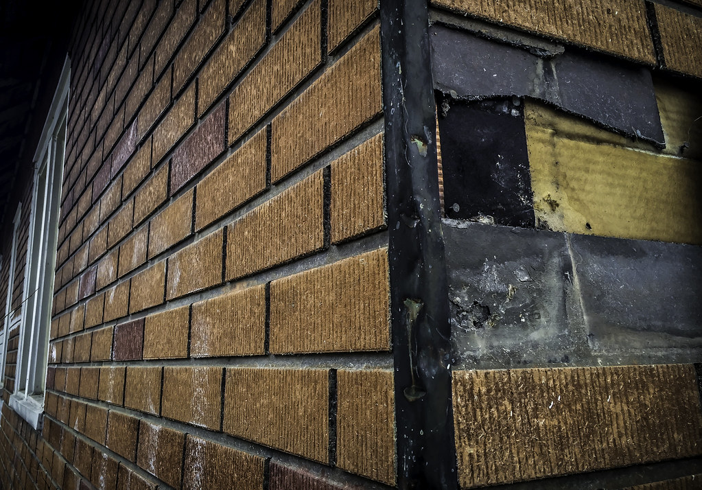 faux brick asbestos cement house siding from a distance th flickr