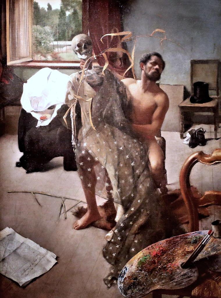 """Résultat de recherche d'images pour """"Léon Frédéric, Intérieur d'atelier, peinture photo"""""""