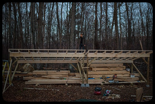 Tyler on Woodshed Roof at Dusk | by goingslowly