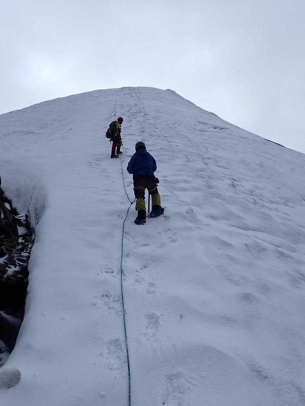 Ascención al Nevado Mateo (5.150m), parte del macizo Contrahierbas (Cordillera Blanca).